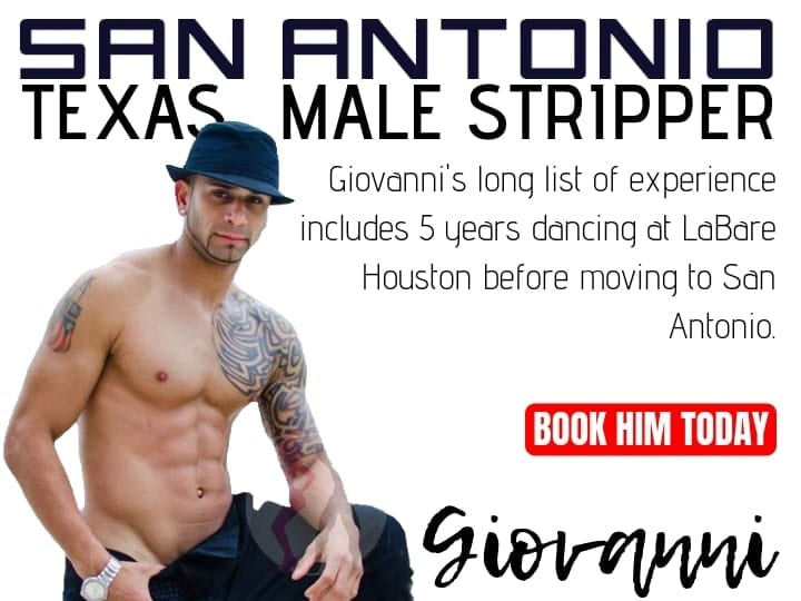 Giovanni is a hot San Antonio stripper available for stripper parties in town