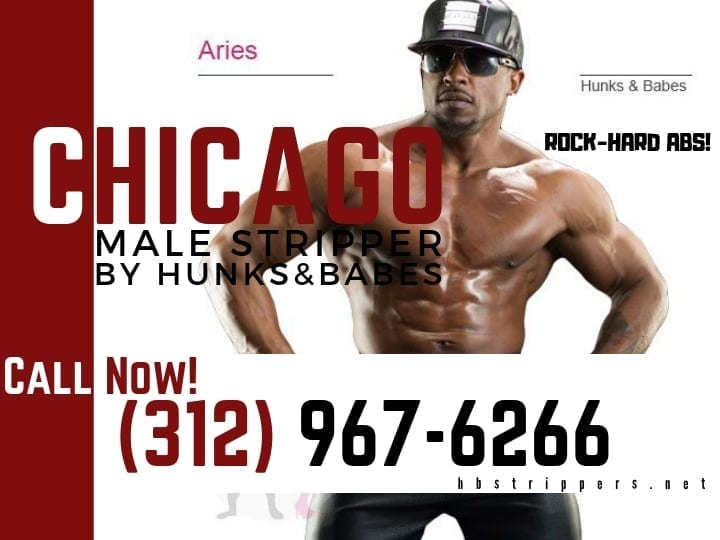 Start your Chicago male stripper party with a dance from Aries