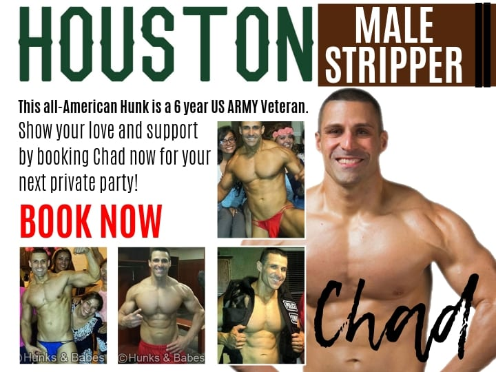 Rent Chad our top Houston stripper will provide top level adult entertainment for your bachelorette party