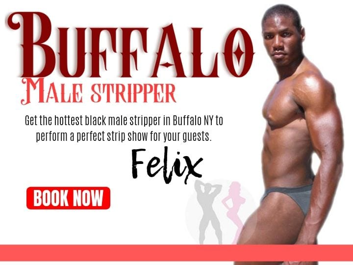 Felix is a hot black Buffalo stripper from Hunks & Babes Entertainment