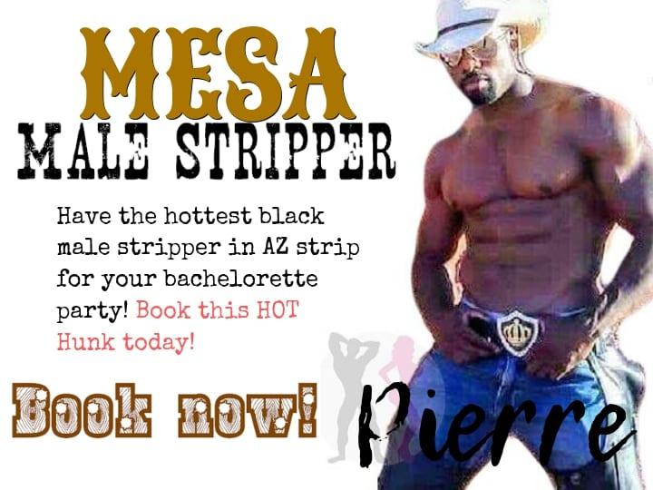 Meet Pierre our famous Mesa male stripper performs in Chandler, Gilbert, Phoenix, Scottsdale & Tempe Arizona
