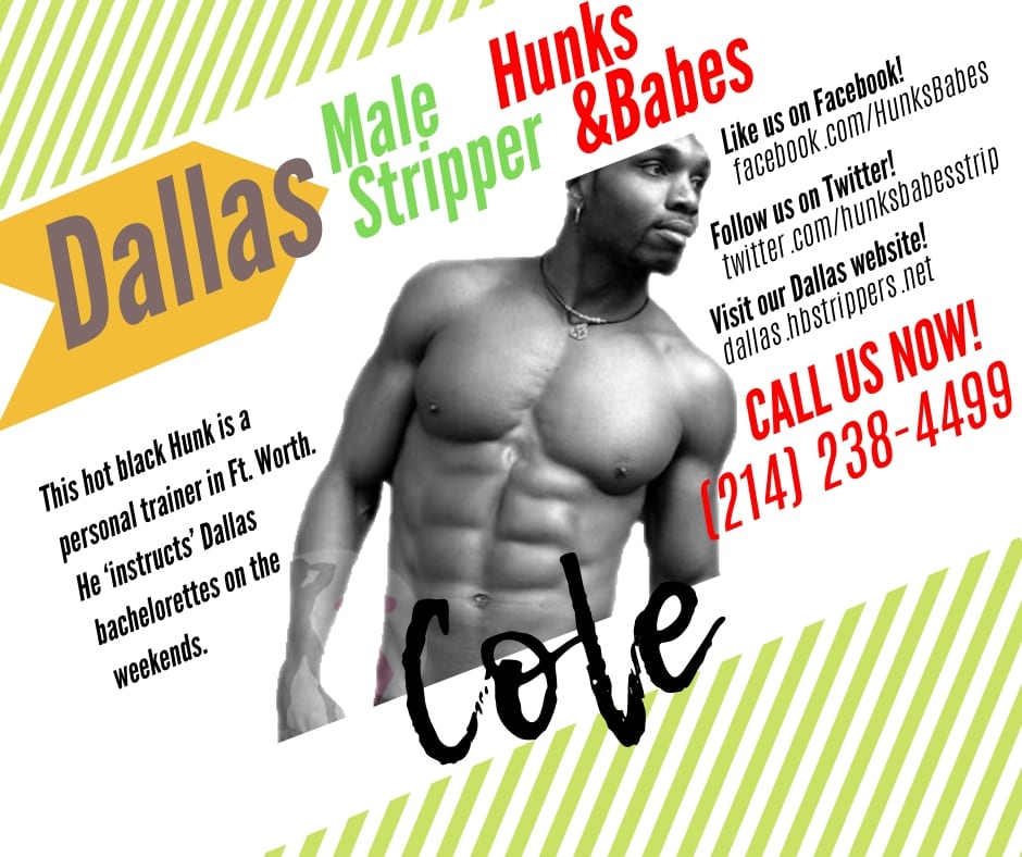 This hot hunk is a personal trainer in Dallas, the perfect stripper for your bachelorette party